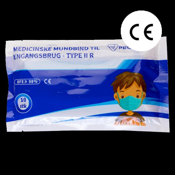 Munnbind type IIR for barn 10 stk